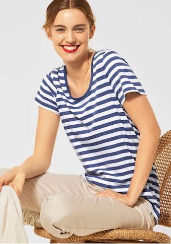 STREET ONE Rundhalsshirt »Style Gerda«, mit lässigem Streifenmuster kaufen