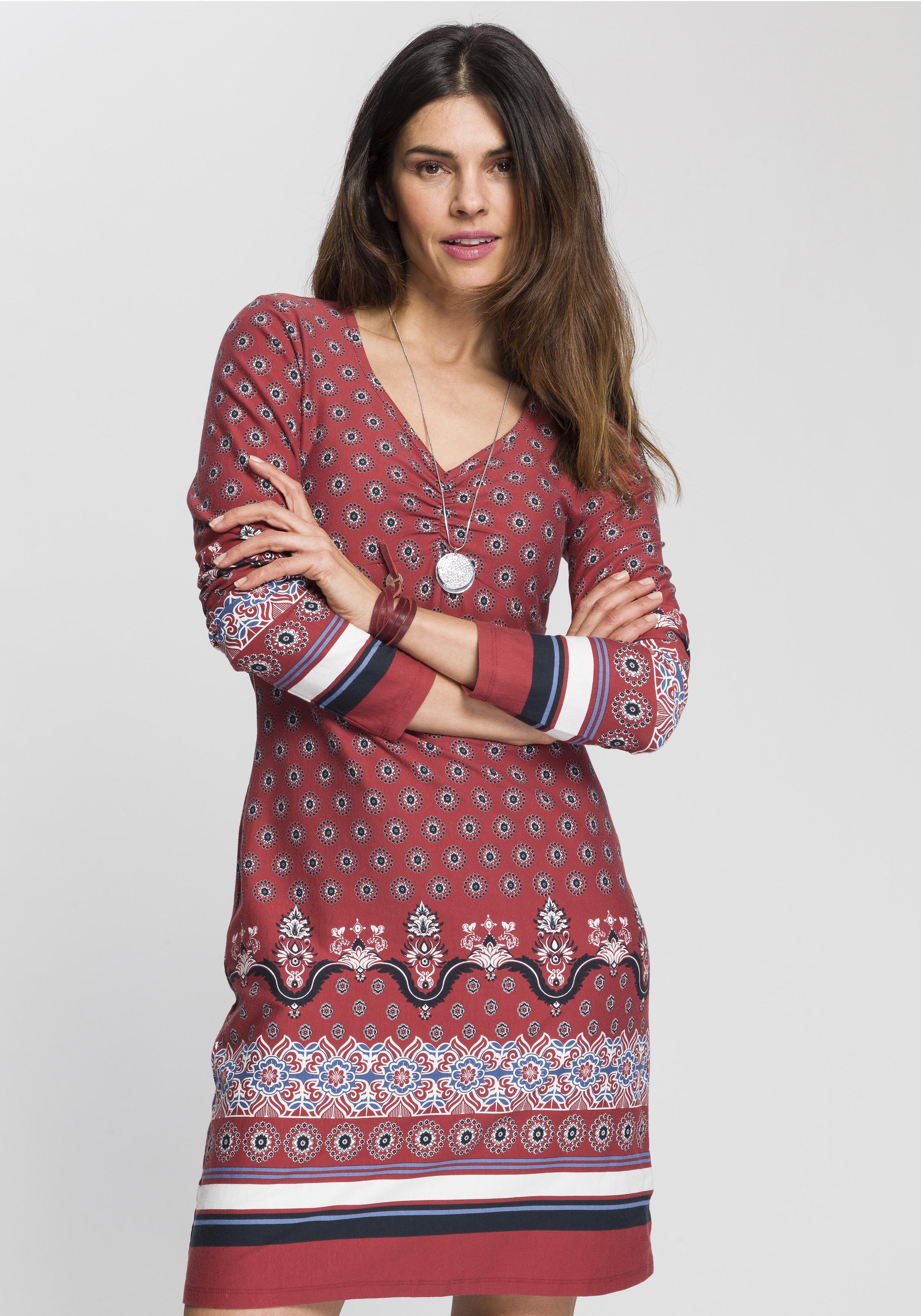 boysen's -  Jerseykleid, mit ornamentalem Alloverprint