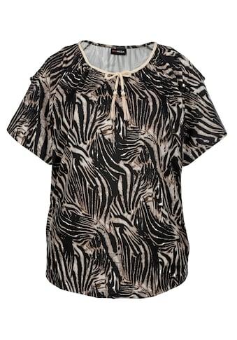 MIAMODA Kurzarmshirt, mit Schnürung am Ausschnitt kaufen