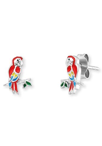 Herzengel Paar Ohrstecker »Papagei, HEE-PARROT«, mit Emaille kaufen
