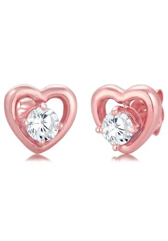 Elli Paar Ohrstecker »Herzen, 308122119«, mit Zirkonia kaufen