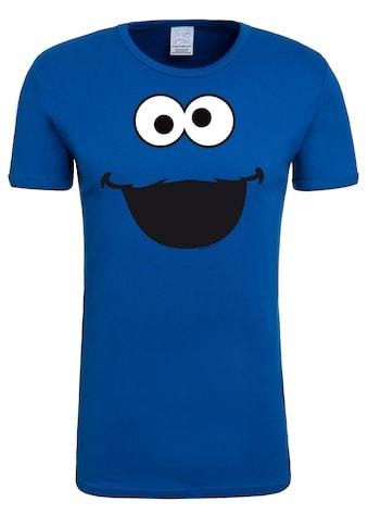 LOGOSHIRT T-Shirt »Cookie Monster – Face«, mit lizenzierten Originaldesign kaufen
