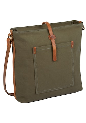 camel active Umhängetasche »Nizza«, mit trendiger Leder-Applikation kaufen