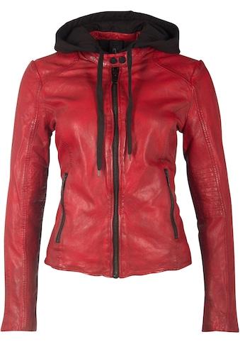 Gipsy Bikerjacke »WLKIA2«, mit herausnehmbarem Jersey Hoodie & Kontrastdetails kaufen