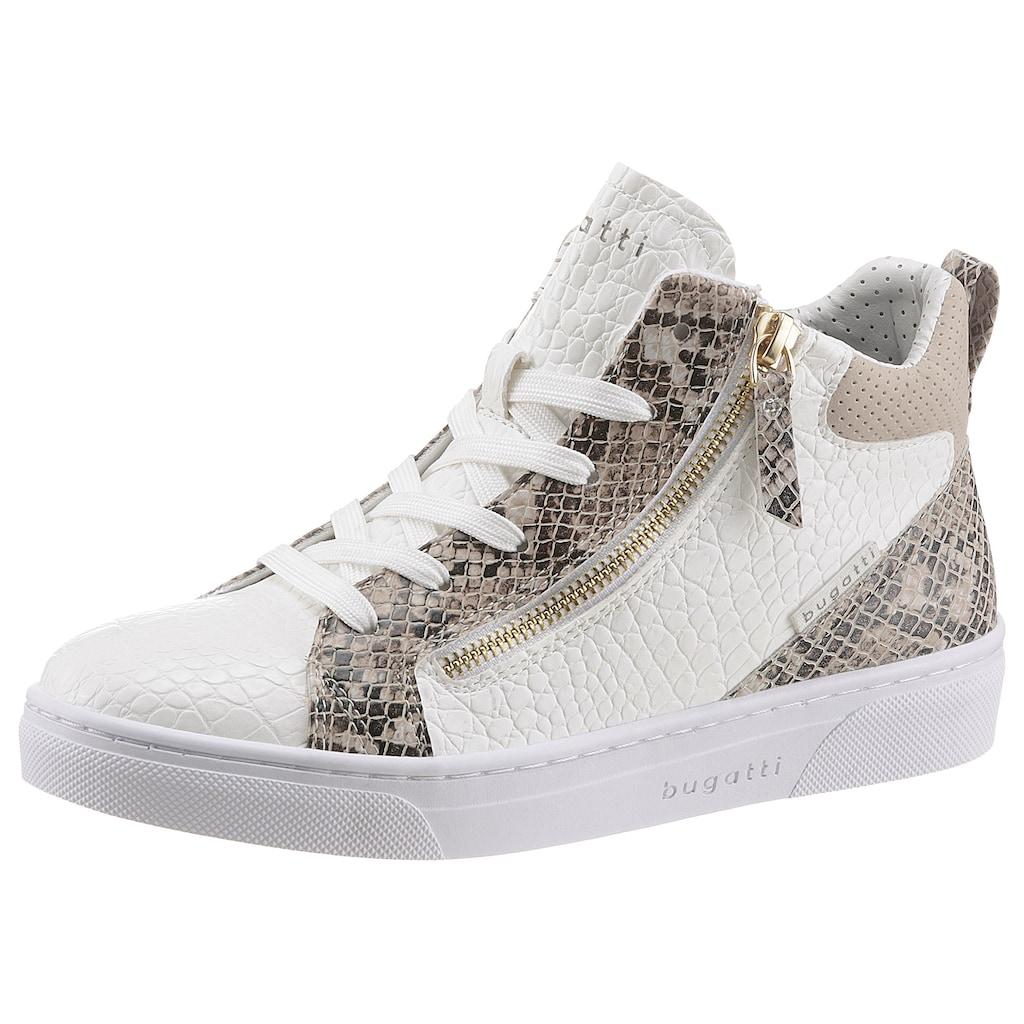 bugatti Sneaker »ELEA«, in trendiger Reptiloptik