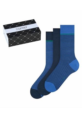 Esprit Socken »X-Mas Stripe 3-Pack«, (3 Paar), aus Baumwolle kaufen