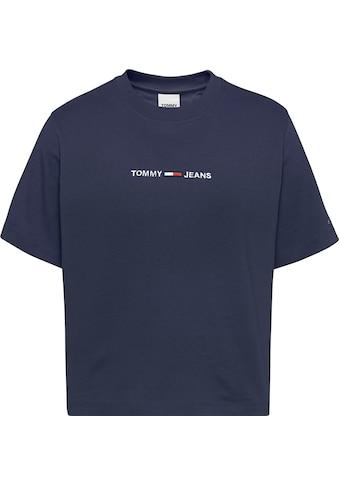Tommy Jeans Rundhalsshirt »TJW BXY CROP LINEAR LOGO TEE«, mit Tommy Jeans Linear Logo-Schriftzug gestickt kaufen