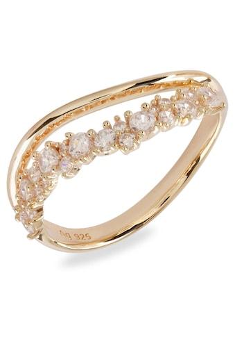 VILMAS Fingerring »Sparkle Two-Lane Wave, 4028146651371, 88, 95«, mit Zirkonia kaufen