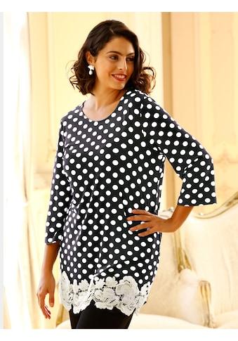 m. collection 3/4-Arm-Shirt, mit schöner Spitze am Saum kaufen
