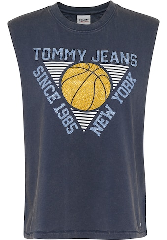 Tommy Jeans Tanktop »TJW RELAXED BASKETBALL TANK«, mit Tommy Jeans Basketball-Print mit Glitzersteinen kaufen