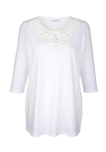 MIAMODA 3/4-Arm-Shirt, mit Mesheinsatz am Ausschnitt kaufen