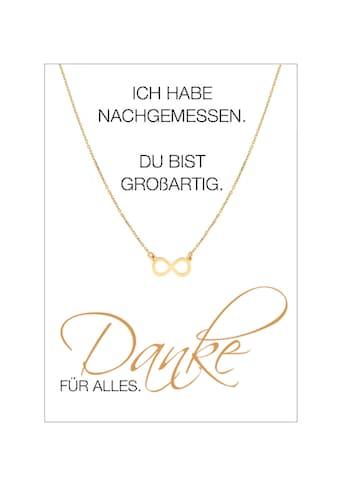 HERZ-KARTE Silberkette »Danke FÜR ALLES«, Ankerkette gelbvergoldet mit Infinity 925/-... kaufen