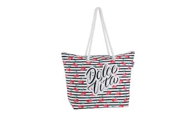 fabrizio® Strandtasche, mit geräumigen Hauptf, ideal für den Strand kaufen