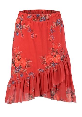 Aniston CASUAL Sommerrock, durch raffinierte Volants vorne etwas kürzer kaufen