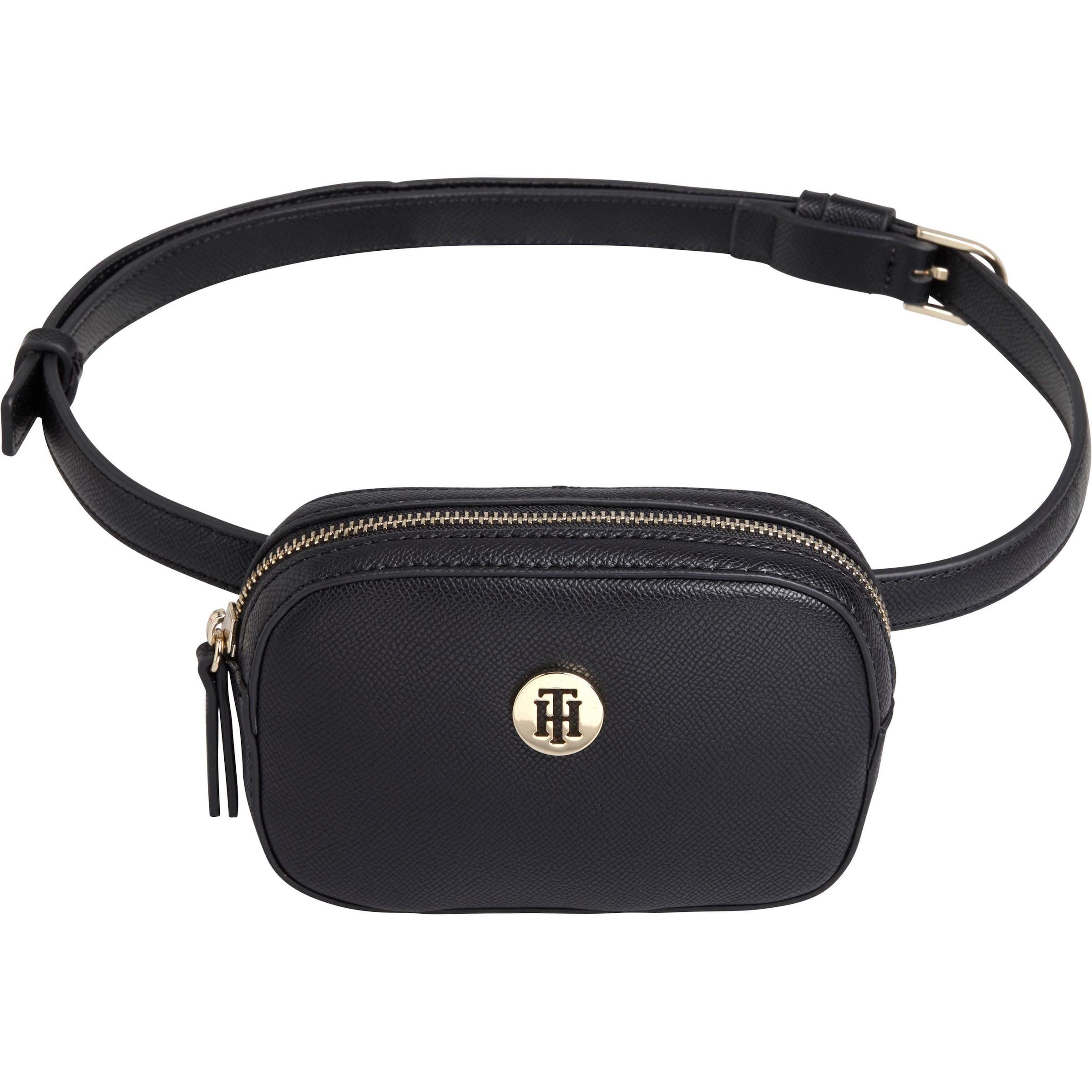 kleine Geldbörse Elegantes Portemonnaie mit Bügel und Bunny schwarz