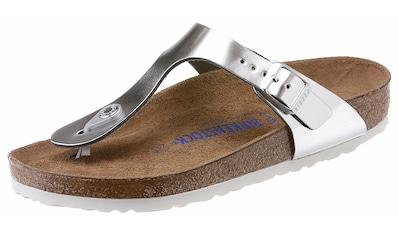 Birkenstock Zehentrenner »GIZEH«, aus Leder, in Glanz-Optik kaufen