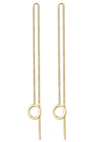Elli Paar Ohrhänger »Ohrringe Basic Durchzieher Kreis Rund Minimal 0304152420, 0304932420« kaufen