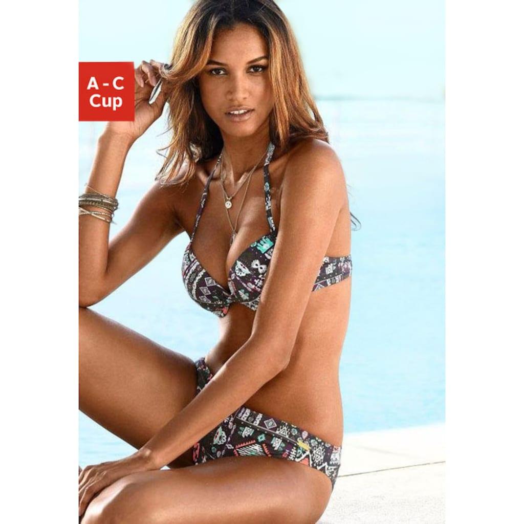 LASCANA Push-Up-Bikini-Top »Kati«, mit Ethnoprint