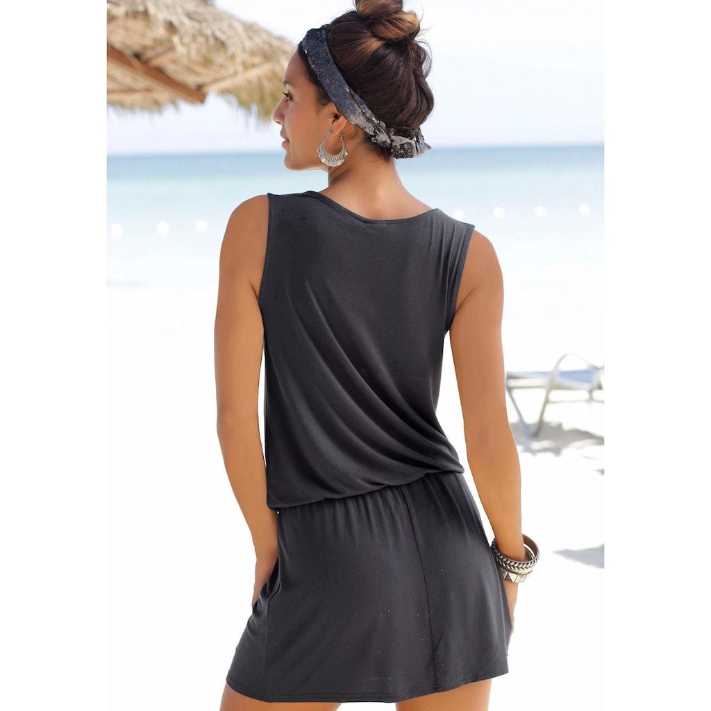 LASCANA Strandkleid, mit Häkelspitze am Ausschnitt