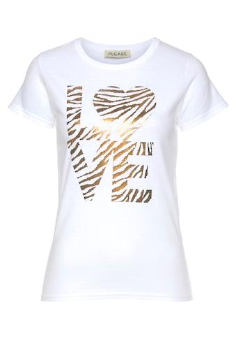 """Please Jeans Print-Shirt »T 501«, mit """"Love"""" Schriftprint kaufen"""