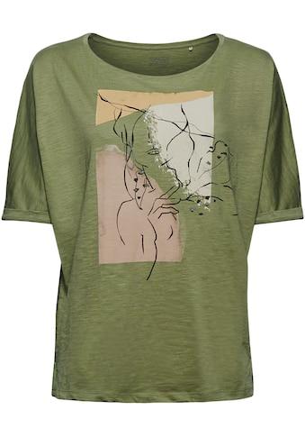 Esprit Kurzarmshirt, mit einem ästhetisch-minimalistischem Frontmotiv kaufen