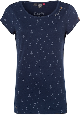 "Ragwear T-Shirt »MINT MARINA«, mit maritimen Allover ""Anker""-Druck kaufen"
