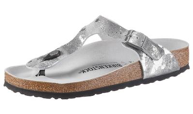 Birkenstock Zehentrenner »GIZEH VINTAGE«, im Metallic-Look, aus Veloursleder kaufen