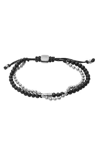 Fossil Armband »VINTAGE CASUAL, JF03681040«, mit Lavasteinen kaufen