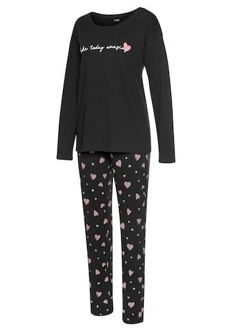 Vivance Dreams Pyjama, mit Herzmuster kaufen