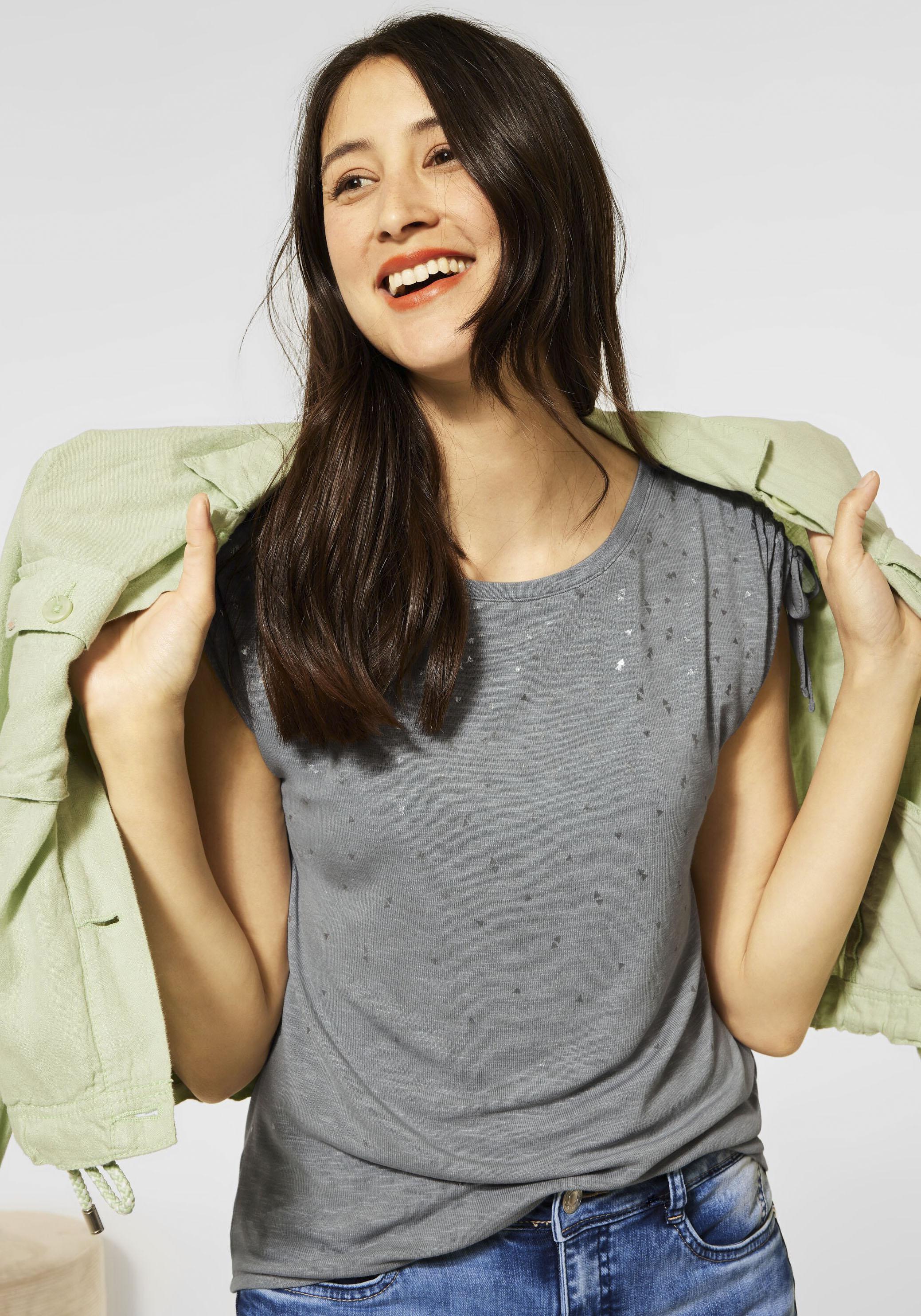 street one -  T-Shirt, mit dezentem Minimal Folienprint