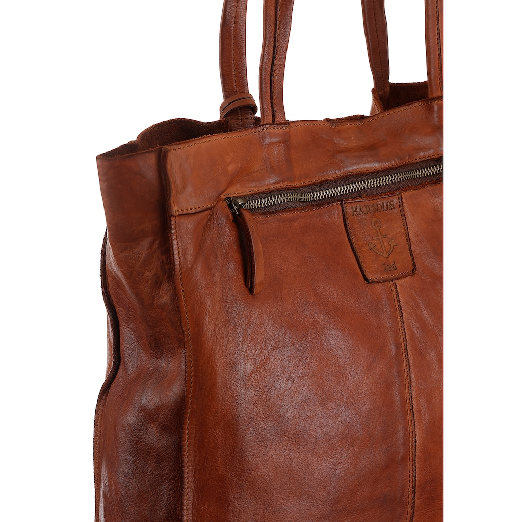 HARBOUR 2nd Shopper »B3-6596 al-Elbe 2«, aus Leder mit typischen Marken-Anker-Schmuck-Anhänger