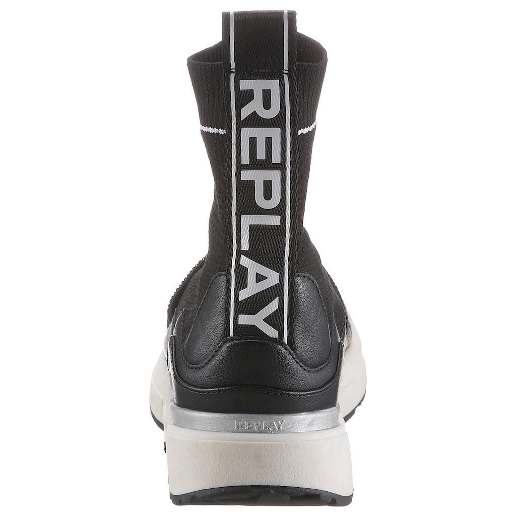 Replay Wedgesneaker »Miki«, mit REPLAY im Animal Look