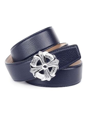 Anthoni Crown Ledergürtel, mit silberfarbener Schließe als stilisiertes Kreuz kaufen