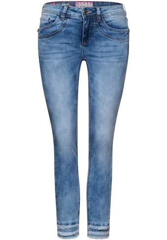 STREET ONE 7/8-Jeans »York«, mit Fransen am Beinabschluss kaufen