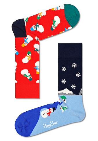 Happy Socks Socken »Snowman and Snowland«, (2 Paar), in unterschiedlichen Winterdesigns kaufen