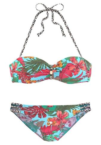 Bruno Banani Bügel-Bandeau-Bikini, mit Mustermix kaufen