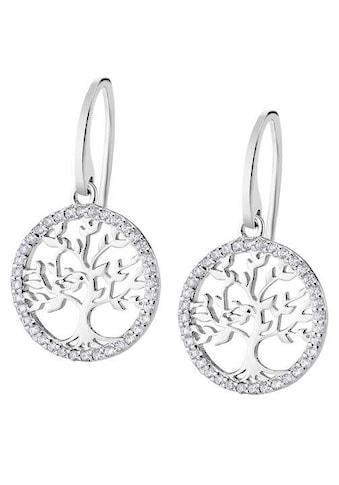 LOTUS SILVER Paar Ohrhänger »Lebensbaum/Baum des Lebens, Hidra, LP1746-4/1«, mit Zirkonia kaufen