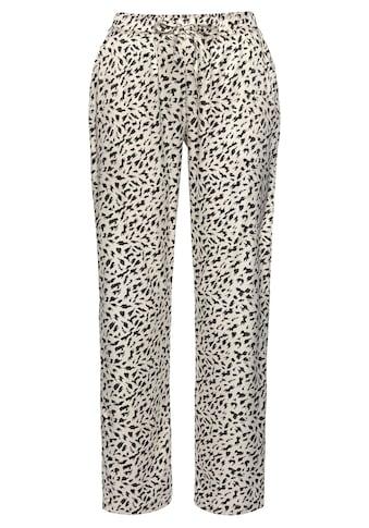 LASCANA Pyjamahose, aus Satin mit Animal-Print kaufen