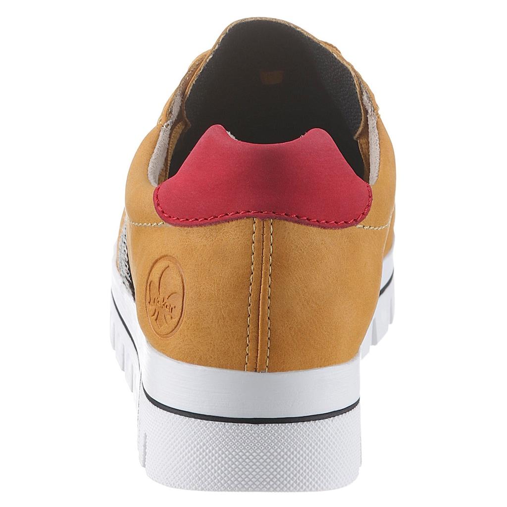 Rieker Keilsneaker, in angesagtem Look
