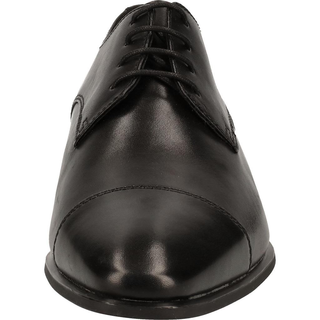 Geox Schnürschuh »Glattleder«