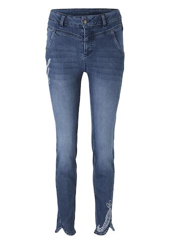 LINEA TESINI by Heine Slim-fit-Jeans, mit Stickerei kaufen