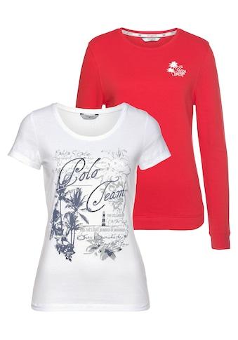 TOM TAILOR Polo Team Sweatshirt (Set, 2 tlg., mit T - Shirt) kaufen