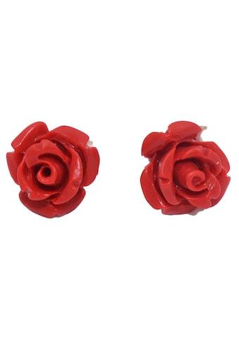 Firetti Paar Ohrstecker »Rosen Korallen«, Made in Germany - mit Koralle kaufen