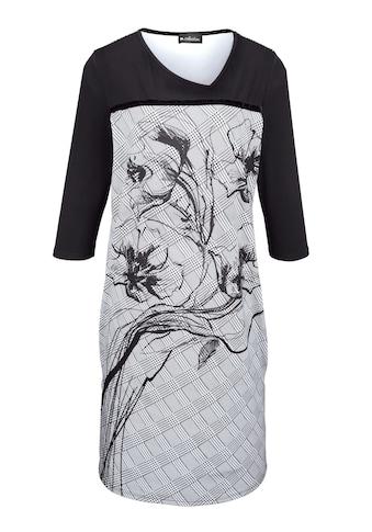 m. collection Kleid mit Samtband auf Brusthöhe kaufen