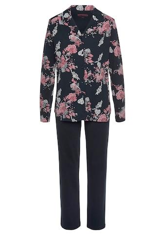 Schiesser Pyjama, mit geblümtem Hemd kaufen