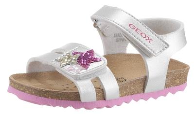 Geox Kids Sandale »CHALKI GIRL«, mit glitzernden Sternchen auf dem Klettverschluss kaufen