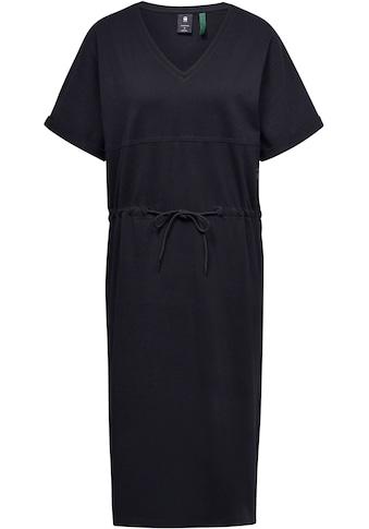 G-Star RAW Jerseykleid »Adjustable Waist Kleid«, mit Kordelzug an der Taille – verstellbar kaufen