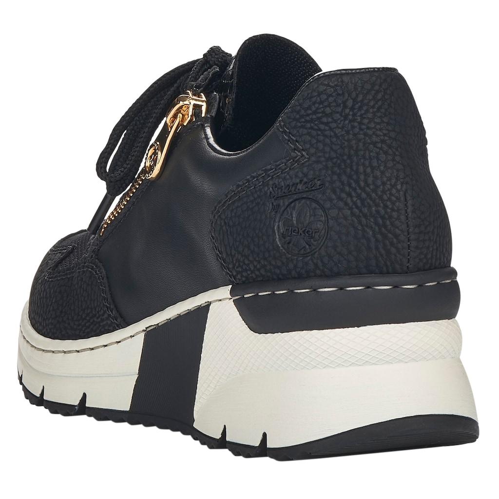 Rieker Wedgesneaker, im Materialmix