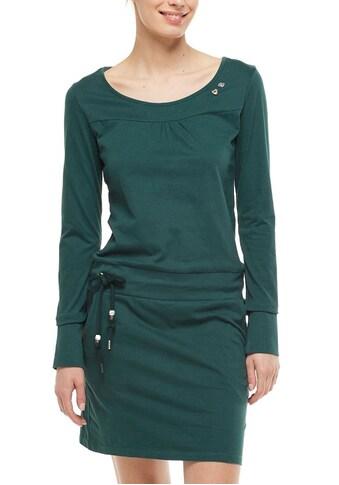 Ragwear Jerseykleid »PENELOPE«, mit Kordelzug und kontrastigen Zierperlen-Besatz kaufen