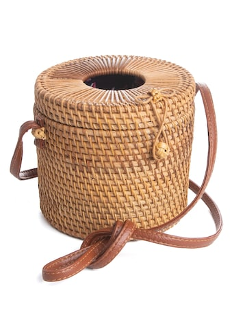 CASSANDRA Korbtasche »Bali Bag«, in ausgefallener Zylinderform kaufen